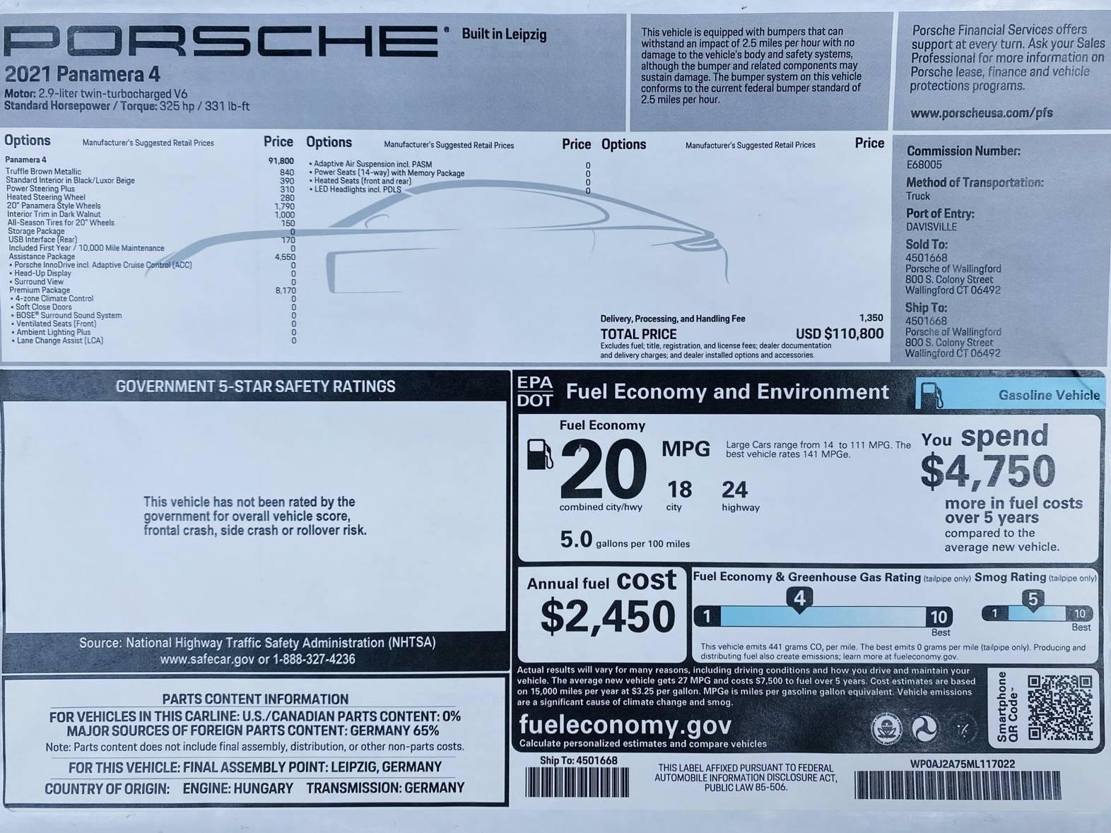 2021 Porsche Panamera 4 – 2